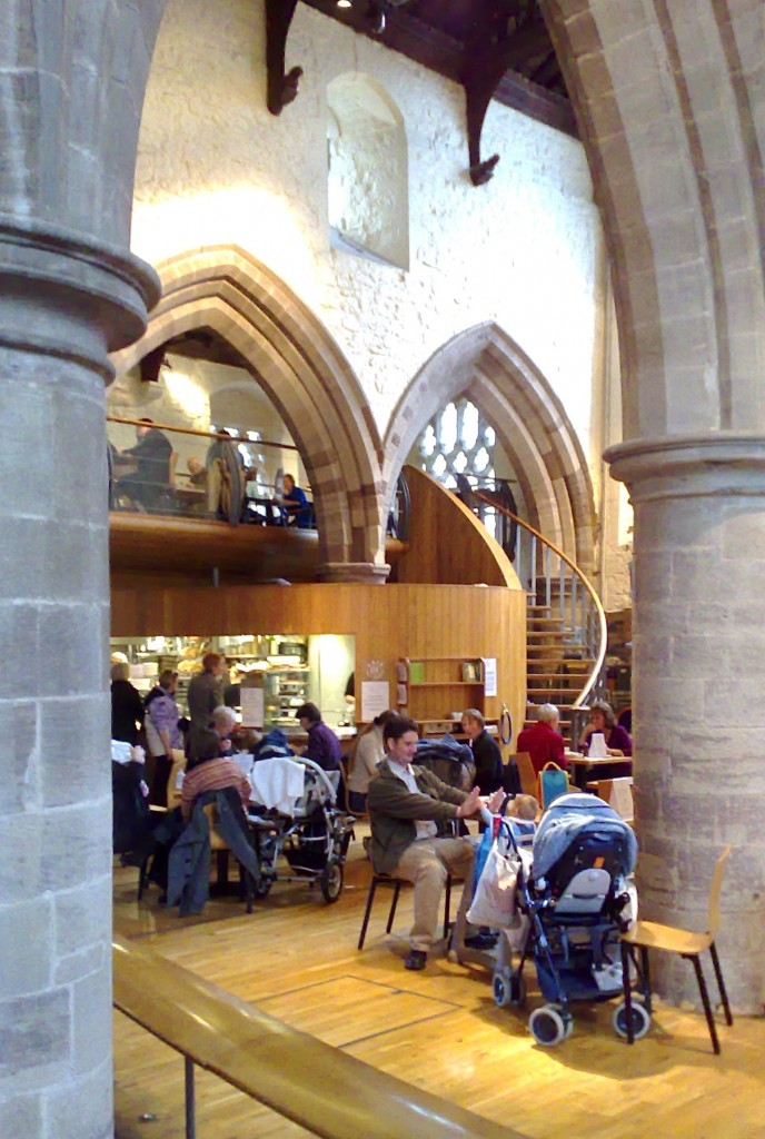 All Saints' Church Hereford - view towards cafe
