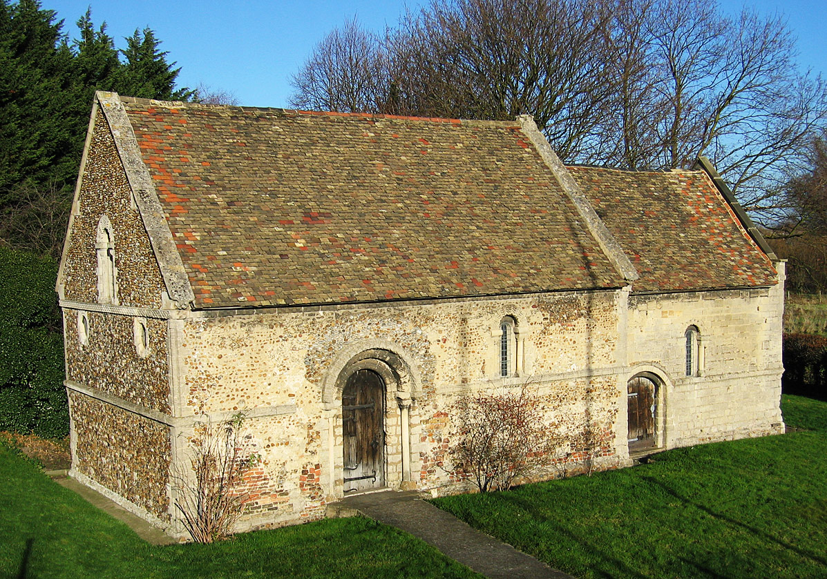 External view of the Leper Chapel, Cambridge