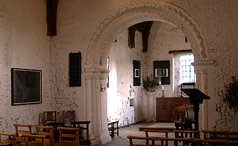 Internal View of the Leper Chapel