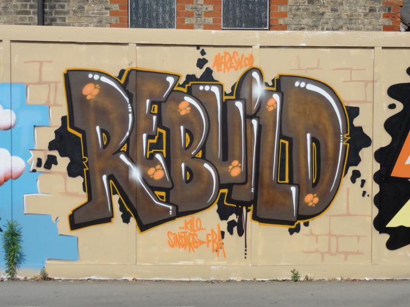 St Philip's hoarding - Rebuild