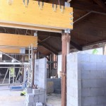 Week 20 - glulam beams in place