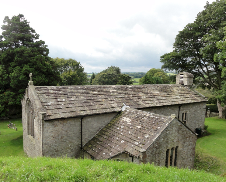 View of the roof of Arkholme Church