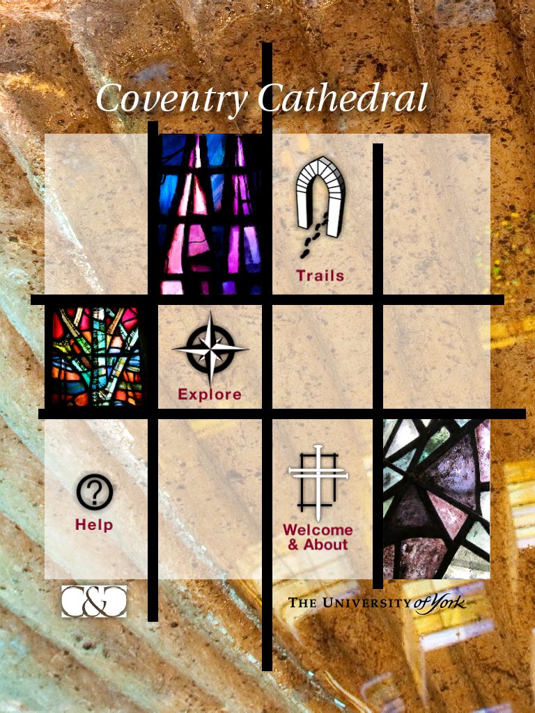 coventry cathedral screenshot - menu