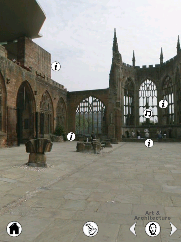 coventry cathedral screenshot - tour