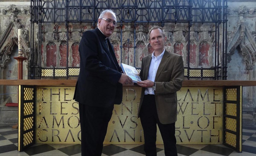 Presentation of the handbook to Bishop of Ely